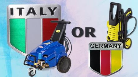 Lựa chọn máy rửa xe của Đức hay Ý tốt hơn, hợp lý hơn?
