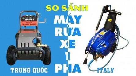 So sánh máy rửa xe 1 pha của Italy và 1 pha của Trung Quốc ?