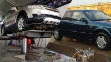 So sánh cầu nâng 1 trụ rửa xe ô tô và bệ bê tông rửa xe truyền thống