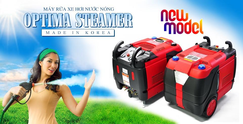 Máy rửa hơi nước nóng Optima Steamer - Korea