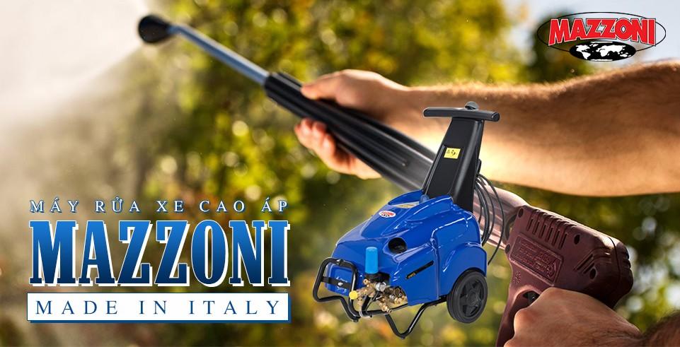 Máy rửa xe cao áp Mazzoni - Made in Italy
